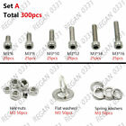 M3-M8 Stainless Steel Hex Socket Cap Head Screws with Hex Nut Washers Assortment
