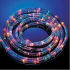 MULTI COLOURED ROPE LIGHTS IN/OUT DOOR 6/10/20/25M PARTY XMAS STATIC FLASHING