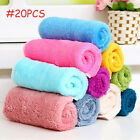 5/10/20Pcs Bamboo Fiber Dish Wash Cloth Cleaning Towel for Kitchen Assted Colors