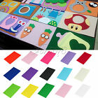 Handicraft Felt Fabric 20cm x 30cm A4 Sheets DIY Scrapbook Party Decor 1mm Thick