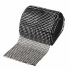 12cm Wide 24 Rows Silver Diamond Mesh Rhinestone Ribbon Rolls Party Venue Decor
