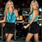 Halterneck Backless Deep V-neck Women Clubwear Cocktail Party Sexy Mini Dress