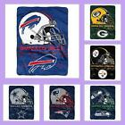 NFL Licensed Prestige Raschel Plush Afghan Throw Blanket - Choose Your Team