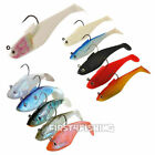 Sidewinder Super Solid / Holo Shads - Cod Bass Wrasse Pollock Sea Fishing Lures