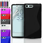 ULTRA THIN GEL CASE COVER & SCREEN PROTECTOR FOR SONY EXPERIA X COMPACT