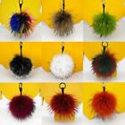 Cute Real Raccoon Fur Ball Pompom Keyring HandBag Pendant Cell Phone Keychain