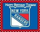 New York Rangers - Edible Cake Topper OR Cupcake Topper, Decor $8.95 USD on eBay