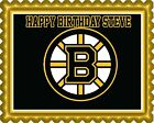 Boston Bruins - Edible Cake Topper OR Cupcake Topper, Decor $8.95 USD on eBay