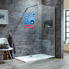 Walk in Shower Cubicle Enclosure and Tray &Waste Screen Panel Wet Room
