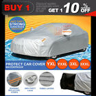 Aluminum waterproof 3 Layers Double Thick car cover rain resistant UV dust