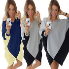 Winter new Loose batwing sleeve Dresses Women Sexy V-neck Casual shirt dress New