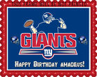New York Giants - Edible Cake Topper OR Cupcake Topper, Decor $8.95 USD on eBay
