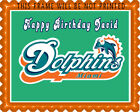 Miami Dolphins - Edible Cake Topper OR Cupcake Topper, Decor $8.95 USD on eBay