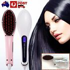Electric Hair Straightener Comb LCD Iron Brush Auto Hair Massager Tools AU New