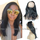 8A 100% Brazilian Human Hair 360 Lace Frontal Closure Silky Straight Pre Plucked