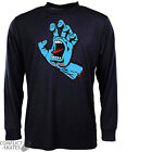 "SANTA CRUZ ""Screaming Hand"" Skateboard LS T-Shirt  BLACK  S M L XL Long Sleeve"