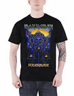 Iron Maiden T Shirt Powerslave Dark Ink band logo new Official Mens Black