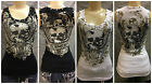 1918 Ladies Bling Tank Top with Skull