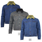 Classic Style Men's New Denim Winter Jacket with Sherpa Lining Inside S-XXL