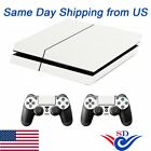 Sticker Decal Skin Cover for Sony PS4 Playtation 4Console & 2 Contrller White