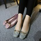Fashion Leisure Buckle Square Toe Flats Patent Leather Solid Pumps Women's Shoes