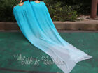 1 pair floating 3m09m 118x35 belly dance real silk fan veil+carry bag