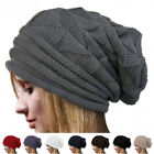 Fashion Winter Women Girl Beret Braided Baggy Knit Knitted Beanie Hat Cap 7Color