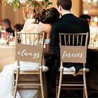 """always forever"" Burlap Banners Signs Chic Wedding Party Venue Chair Decorations"