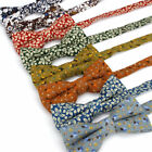 Fashion Adjustable Mens Cotton Bow Tie Wedding Party Print Flower Leaf Butterfly