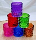 """1-""""Premium"""" Brand Honeycomb & Raised Square Pattern~Glass Candle Holder~10-Color"""