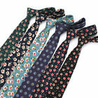 6 CM Fashion Men Cotton Shirt Neck Ties Print Flower Tie Wedding Necktie Cravat