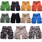 Men Trousers Casual Shorts Pocket Military Army Cargo Baggy cotton Cropped pants