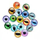 20pcs 25mm Eye Round Photo Glass Cabochons Pattern Dome Cameo DIY Pendant #25