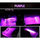 4x 9 LED Car Decorative Light Lamps Charge Interior Accessories Foot Purple-Pink