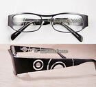 Men women Reading glasses spring hinges anti-glare thin lens 1 to 4 black/clear