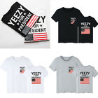 New Mens Kanye West Yeezus Top Yeezy for President T-Shirt Tee Shirt Unisex