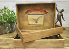 Bruton Somerset Vintage Wooden Tray Storage Box Desk Or Kitchen Amors Owl