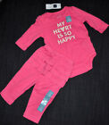 New Authentic Baby GAP Infant Girl Pink Long Sleeve Set (0-3-6-12) Pant & Shirt