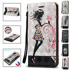 3D Pattern Card Holder Leather Kickstand Case Cover For iPhone 5s SE 6 6s 7 Plus