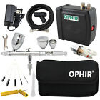 OPHIR DC 12V Compressor Airbrush Gun Kit Tool 0.5mm Nozzle with Airbrush Bag