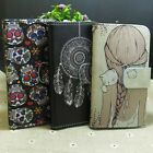 Dream Catcher Skull Girl Cat Wallet Pouch Stand flip case cover for Huawei Phone