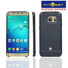 """ELEGZA Double Stitch Leather Shell Back Case Cover For """"Samsung Galaxy S6 Edge"""""""