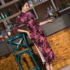 Fashion Velour Chinese Tradition Women's Long Cheongsam Bridesmaid Evening Dress