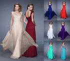 New Long Formal Chiffon Ball Gown Party Evening Prom Bridesmaid Dress Plus stock