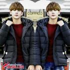 Mens Hooded Parka Warm Faux Fur Padded Winter Thick Down Coats Outwear Jackets