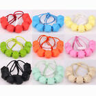 Chain Baby Silicone Teething Necklace Teether Cute Charm BPA-Free Beads Polygon