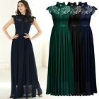 Women's Vintage Long Formal Evening Party Wedding Bridesmaid Floral Lace Dresses