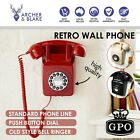 GPO Retro Push Button 746 Wall Telephone | Vintage 60s 70s Style Phone Corded Bl