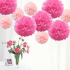 10 Pack Mixed Size Tissue Paper Pompoms Wedding Party Decoration Pom Poms NEW