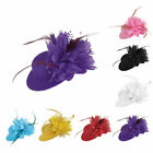 Women Elegant Floral Feather Hair Accessory Fascinator Mini Hats Wedding Party